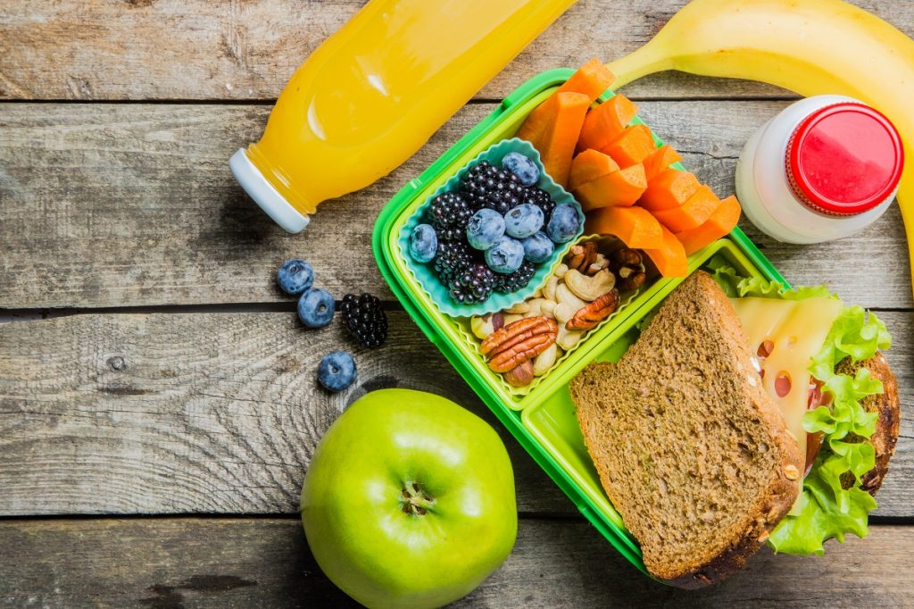 Lunchbox with healthy food