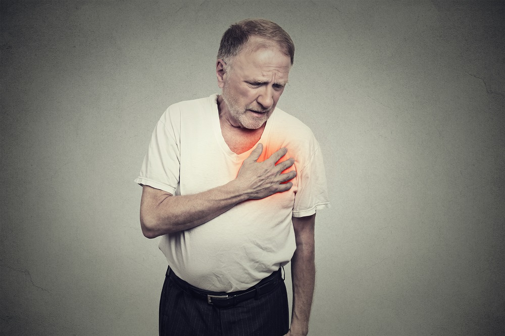 Man with heart pain