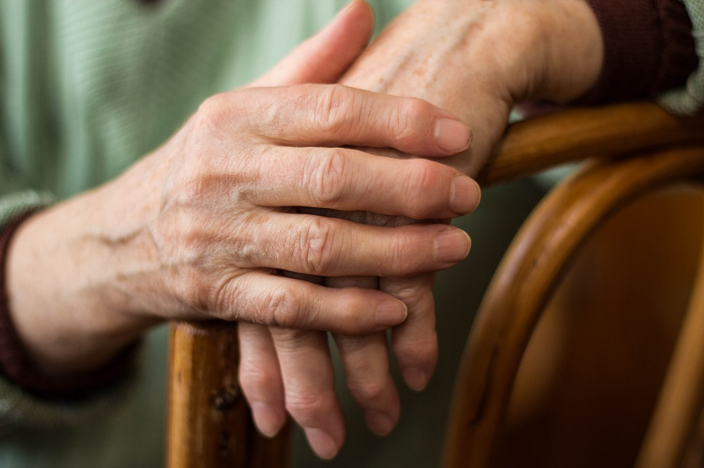 person with arthritis