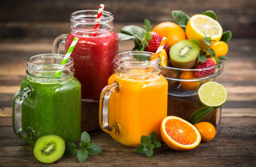 Different fruit smoothies