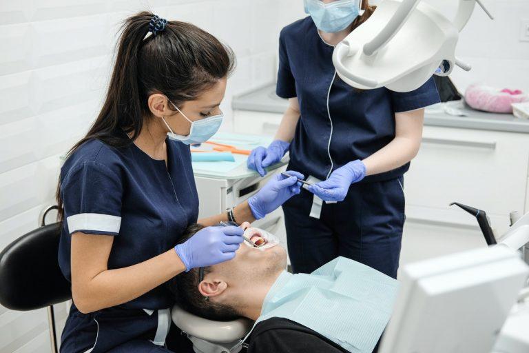 dentist doing a procedure